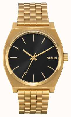 Nixon Zeitmesser | alles gold / schwarz sunray | Gold IP Armband | schwarzes Zifferblatt A045-2042-00