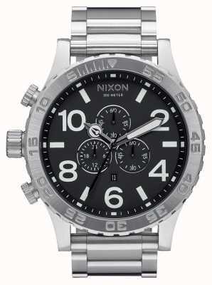 Nixon 51-30 chrono | schwarz | Edelstahlarmband | schwarzes Zifferblatt A083-000-00