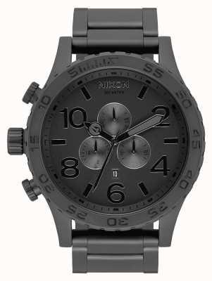 Nixon 51-30 chrono | alles mattschwarz / schwarz | schwarzes IP-Armband | schwarzes Zifferblatt A083-3086-00
