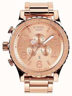 Nixon 51-30 chrono | alles roségold | roségold ip armband | roségoldenes Zifferblatt A083-897-00