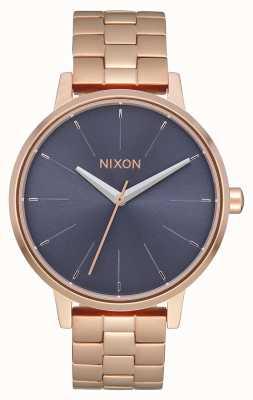 Nixon Kensington | Roségold / Sturm | roségold ip armband | blaues Zifferblatt A099-3005-00