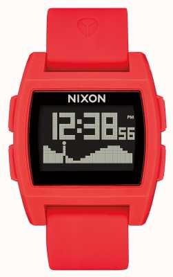 Nixon Grundflut | rot | digital | rotes Silikonband A1104-200-00