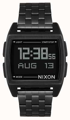 Nixon Basis | alles schwarz | digital | schwarzes IP Stahlarmband | A1107-001-00
