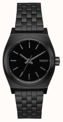 Nixon Mittelzeitzähler | alles schwarz | schwarzes IP Stahlarmband | schwarzes Zifferblatt A1130-001-00