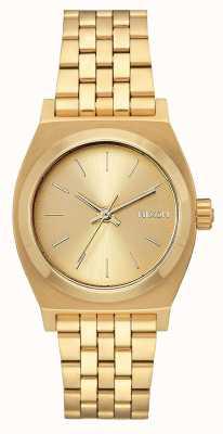 Nixon Mittelzeitzähler | alles Gold | Gold IP Stahl Armband | goldenes Zifferblatt A1130-502-00