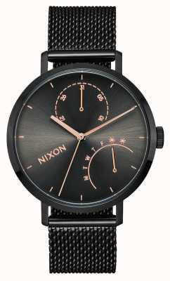 Nixon Kupplung | schwarz / Rotguss | schwarzes IP-Stahlgitter | schwarzes Zifferblatt A1166-1420-00