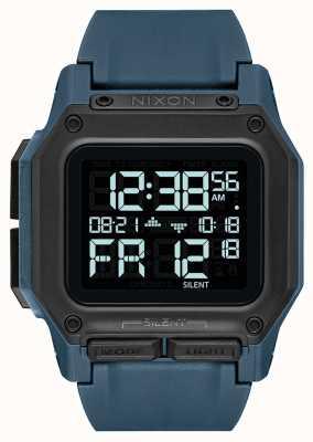 Nixon Regulus | dunkler Schiefer | digital | blauer TPU-Gurt A1180-2889-00