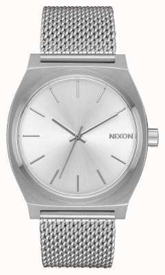 Nixon Zeitzähler milanese   alles silber   Edelstahlgewebe   silbernes Zifferblatt A1187-1920-00