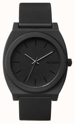 Nixon Zeitmesser p | mattschwarz | schwarzes Silikonband | schwarzes Zifferblatt A119-524-00