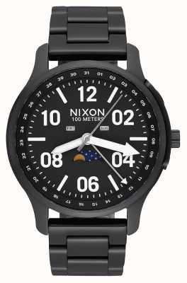 Nixon Aufsteiger | schwarz / lum | schwarzes IP Stahlarmband | schwarzes Zifferblatt A1208-2474-00