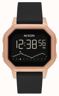 Nixon Sirene ss | Roségold / Schwarz | digital | schwarzes Silikonband A1211-1098-00