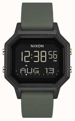 Nixon Sirene ss | schwarz / Müdigkeit | digital | schwarzes Silikon | A1211-178-00