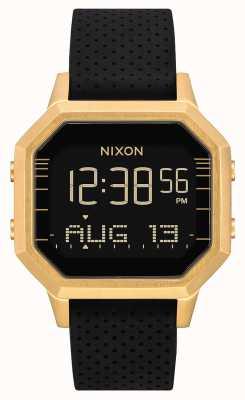 Nixon Sirene ss | gold / schwarz lh | digital | schwarzes Silikonband A1211-2970-00