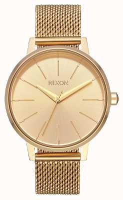 Nixon Kensington milanese | alles Gold | Gold IP Stahl Mesh | goldenes Zifferblatt A1229-502-00