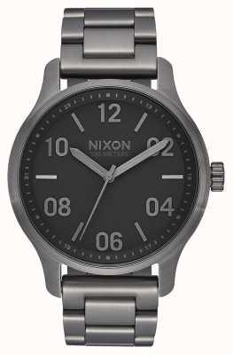 Nixon Patrouille | Rotguss / schwarz | Gunmetal IP Stahl Armband | Rotguss Zifferblatt A1242-1531-00