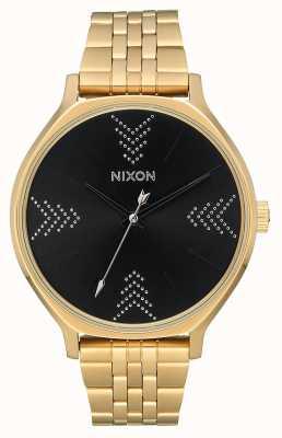 Nixon Clique | Gold / Schwarz / Silber | Gold IP Stahl Armband | schwarzes Zifferblatt A1249-2879-00