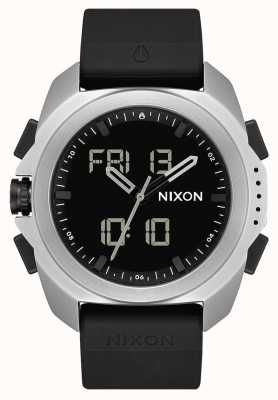 Nixon Ripley   silber / schwarz   digital   schwarzer TPU-Gurt A1267-625-00