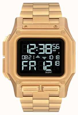 Nixon Regulus ss | alles Gold | digital | Gold IP Stahl Armband | A1268-502-00
