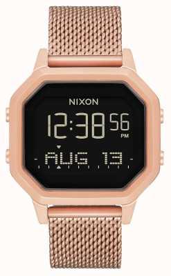 Nixon Sirene milanese | alles roségold | digital | roségold ip stahlgewebe | A1272-897-00