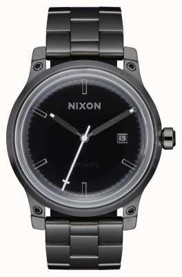 Nixon 5. Element | schwarz / Rotguss | schwarzes IP-Stahlarmband A1294-1420-00