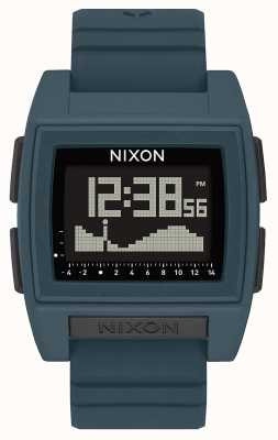 Nixon Base Tide Pro | dunkler Schiefer | digital | schieferfarbenes Silikonband A1307-2889-00