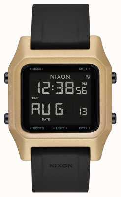 Nixon Heften | schwarz / gold | digital | schwarzes Silikonband A1309-010-00