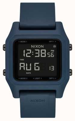 Nixon Heften | dunkler Schiefer | digital | schieferfarbenes Silikonband A1309-2889-00