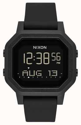 Nixon Sirene | alles schwarz | digital | schwarzes Silikonband A1311-001-00