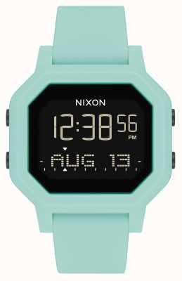 Nixon Sirene | aqua | digital | türkisfarbenes Silikonarmband A1311-2930-00