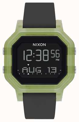 Nixon Sirene | klar grün | digital | schwarzes Silikonband A1311-3408-00