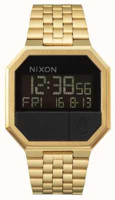 Nixon Führen Sie | erneut aus alles Gold | digital | Gold IP Stahl Armband A158-502-00