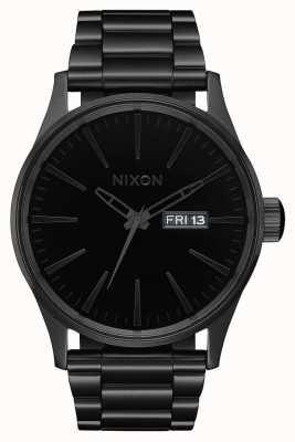 Nixon Wachposten ss | alles schwarz / schwarz | schwarzes IP Stahlarmband | schwarzes Zifferblatt A356-1147-00