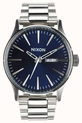 Nixon Wachposten ss | blauer Sonnenstrahl | Edelstahlarmband | blaues Zifferblatt A356-1258-00