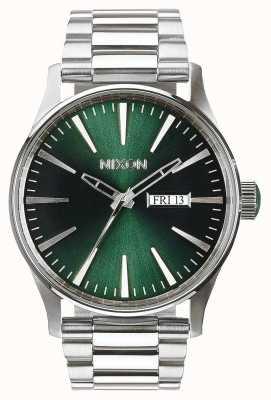 Nixon Wachposten ss | grüner Sonnenstrahl | Edelstahlarmband | grünes Zifferblatt A356-1696-00