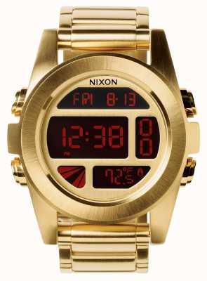 Nixon Einheit ss | alles Gold | digital | Gold IP Stahl Armband | A360-502-00