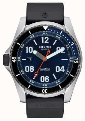 Nixon Abstiegssport | blauer Sonnenstrahl | schwarzes Silikonband | blaues Zifferblatt A960-1258-00
