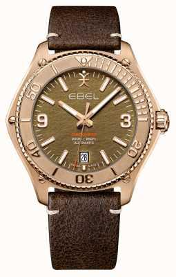 EBEL Herrenentdeckung Bronze Limited Edition | braunes Kalbslederarmband | 1216471