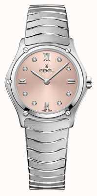 EBEL Frauensportklassiker | Edelstahlarmband | rosa galvanisches Zifferblatt 1216444A