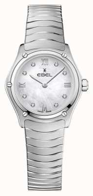 EBEL Frauensportklassiker | Edelstahlarmband | silbernes Diamantzifferblatt 1216474A