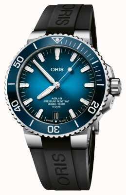 ORIS Aquis Datum | Kaliber 400 120 Stunden | Silikonarmband | blaues Zifferblatt 01 400 7763 4135-07 4 24 74EB