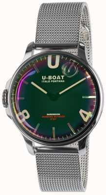 U-Boat Dunkelmond 38mm schwarz ss Metallarmband 8471/MT