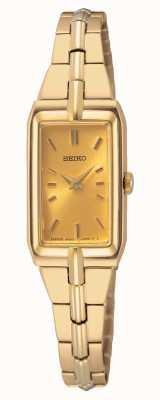 Seiko Goldfarbenes Stahlarmband für Damen | goldenes Zifferblatt SWR048J8