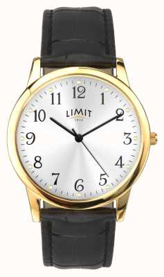 Limit Goldgehäuse 38mm schwarzes Armband mit Krokodileffekt 5953.01