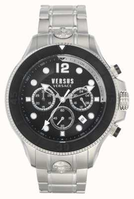 Versus Versace Männer volta versus   Edelstahlarmband   schwarzes Zifferblatt VSPVV0420