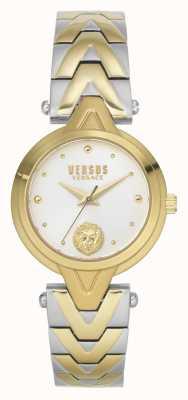 Versus Versace Frauen v_versus forlanini | zweifarbiges Stahlarmband | silbernes Zifferblatt VSPVN1020