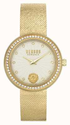 Versus Versace | Frauen | lea | goldenes Netzarmband | Champagner Zifferblatt | VSPEN1520