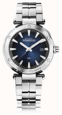 Michel Herbelin Herren Newport | Edelstahlarmband | blaues Zifferblatt 12288/B15