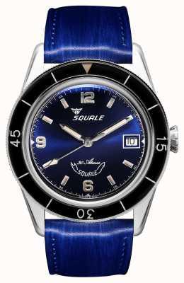 Squale 60 Jahre blau | sub-39 | blaues Lederband | blaues Zifferblatt SUB39BL-CINSQ60BL