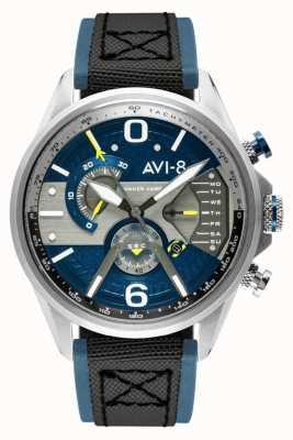 AVI-8 Hawker Harrier ii | Chronograph | blaues Zifferblatt | blaues Leder schwarzes Nato-Armband AV-4056-01