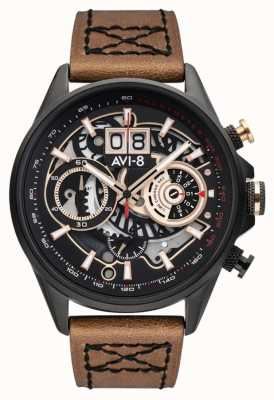 AVI-8 Hawker Harrier ii | Chronograph | braunes Lederband AV-4065-03